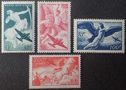 R1631/2168 - 1946/1947 - POSTE AERIENNE - SERIE MYTHOLOGIQUE (COMPLETE) - N°16 à 19 NEUFS** - 1927-1959 Mint/hinged