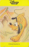 Télécarte Japon / 110-016 ** ONE PUNCH ** - Série DISNEY FAN - Chien Pluto Dog - Japan Phonecard - Disney