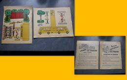 Tour De France Cycliste, Lot De 2 Planches PUB LE FIGARO, Vers 1935 ? AUTOMOBILE ; GR01 - Publicités