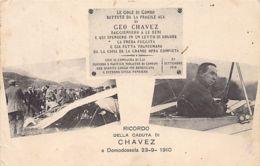 Ricordo Della Caduta Di Chavez A Domodossola, 23-9-1910 - Ed. D. Menapace 9311. - Peru