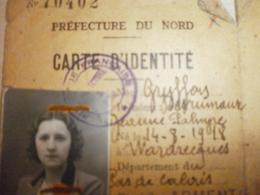Ancienne Carte D'identité GRIJFFON Jeanne - Old Paper