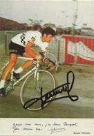 CARTE CYCLISME BERNARD THEVENET SIGNEE TEAM PEUGEOT 1973 - Cyclisme