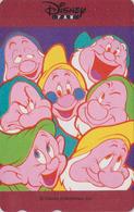 Télécarte Japon / 110-016 ** ONE PUNCH ** - Série DISNEY FAN - SNOWWHITE / Nains Dwarfs - Japan Movie Phonecard - Disney
