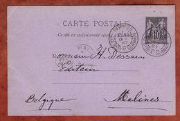 P 8 Allegorie, Paris Nach Malines 1887 (90656) - Standard- Und TSC-AK (vor 1995)