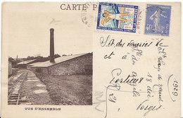 """Argiles De Saint-Loup-de-Naud Par Longueville ,vue D""""ensemble , 1929 , 2 Scans - Frankrijk"""