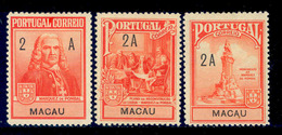 ! ! Macau - 1925 Postal Tax (Complete Set) - Af. IP 03 To 05 - MH - Autres