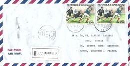 Gabon 1991 Libreville World Cup Rugby Registered Cover - Rugby