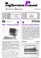 Informations Technology Resources, Septembre 1983 - Autres