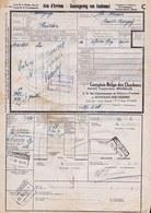RARE !! AVIS D'ARRIVEE DE MISSION MILITAIRE SEDICHAR ( Sous Section Charleroi ) DE HAUCHIES à BOVIGNY - TAMPONS !! 1948 - 1942-1951