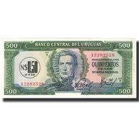Billet, Uruguay, 0.50 Nuevo Peso On 500 Pesos, Undated (1967), KM:54, NEUF - Uruguay