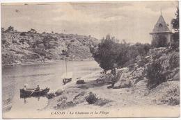 13 CASSIS - Le Château Et La Plage - Animée - Cassis