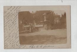 Carte Postale Photographique  Laragne Place De La Fontaine 1902 - France