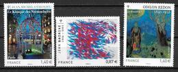 France 2011 N° 4533 - 4537 - 4542  Neufs Série Artistique à La Faciale - France