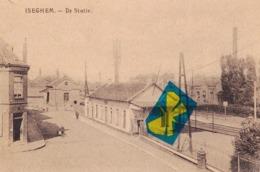ISEGHEM - De Statie - Carte Circulé Sous La Poste Allemande Le 16-12-1917 - Izegem