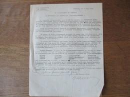 CAMBRAI LE 3 JUIN 1941 KREISKOMMANDANTUR 1/692 VERWALTUNGSTAB POLICE ET GENDARMERIE SIGNE HOHN KRIEGSVERWALTUNGSRAT - Historische Dokumente
