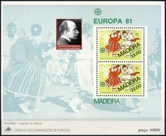 PORTUGAL MADEIRA -  Max Planck - NOBEL PRIZE LAUREATES  -1 Sheet MNH - Prix Nobel