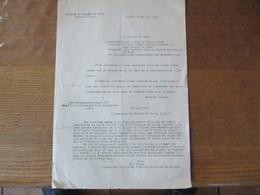 OBERFELDKOMMANDANTUR 670 LE 21 MAI 1941 LE CHEF D'ADMINISTRATION Dr. BEYER COURRIER AU PREFET DU NORD SALUT IMPOSE A LA - Historische Documenten