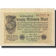 Billet, Allemagne, 20 Millionen Mark, 1923, 1923-09-01, KM:108d, SPL - [ 3] 1918-1933 : República De Weimar