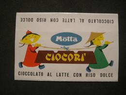 VECCHIA FASCETTA CIOCORI' MOTTA CHICOLAT CIOCCOLATO AL LATTE CON RISO DOLCE 3 PUNTI CONCORSO PICCOLI - Pubblicitari