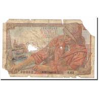 France, 20 Francs, Pêcheur, 1943, 1943-01-28, AB, Fayette:13.5, KM:100a - 1871-1952 Anciens Francs Circulés Au XXème