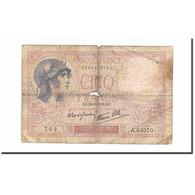 France, 5 Francs, Violet, 1939, 1939-09-28, AB, Fayette:04.10, KM:83 - 1871-1952 Anciens Francs Circulés Au XXème