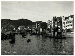 China, HONG KONG, Shek O Beach (1953) Postcard - Chine (Hong Kong)