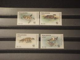 MALDIVES - 1995 WWF TARTARUGHE 4 VALORI - NUOVI(++) - Maldive (1965-...)