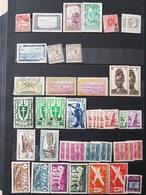 Affaire ! Timbres Des Colonies Françaises Et Indépendance Avec Blocs Et Coins Datés Cote YT >400€ - Collections