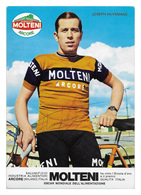 CARTE CYCLISME JOS HUYSMANS SIGNEE TEAM MOLTENI 1973 - Cyclisme