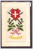 SOUVENIR DE LA SUISSE - VERITABLE BRODERIE - TB - Suisse