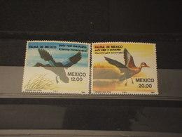 MEXICO - 1984 UCCELLI 2 VALORI - NUOVI(++) - Messico