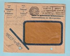 """Envelop Met Vlagstempel / Flamme """"ACHETEZ VOS TIMBRES EN CARNETS - KOOPT UWE ZEGELS IN BOEKJES"""" - Booklets 1907-1941"""