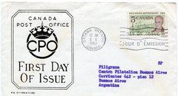 CANADA 1962 FDC OTTAWA ONTARIO RED RIVER SETTLEMENT LA COLONE DE LA RIVIERE ROUGE - NTVG. - Sobre Primer Día (FDC)