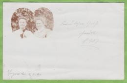 CPA Précurseur Dos Simple Carte Photo Médaillon En Coeur Ingweiler 1904 SAAR - Autres