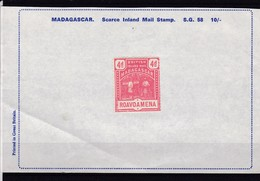 Madagascar: BRITISH INLAND MAIL, 4d. ROAVOAMENA ** - Madagascar (1960-...)