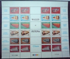 WALLIS Et FUTUNA 1983 Feuille Complète N° 306 à 311 Neuf** - MNH - Coquillages - Nuovi