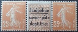 """R1189/648 - TYPE SEMEUSE CAMEE - N°235 TIMBRES NEUFS** Avec Publicité """" JANIPOLINE """" (trace Charnière Sur Le Pont) - Publicités"""