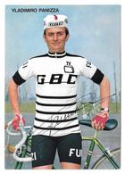 CARTE CYCLISME WLADIMIRO PANIZZA SIGNEE TEAM GBC 1973 - Cyclisme