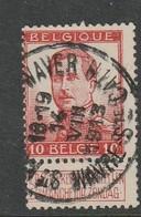 COB N° 118 Oblitération WAVRE Ste CATHERINE 1913 - 1912 Pellens