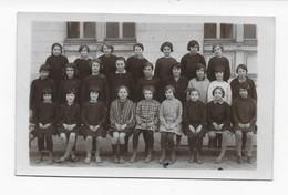 37   CARTE- PHOTO  TOURS  ECOLE  RABELAIS 1928     CLASSE  DE MADAME   NONNET  BON ETAT 2 SCANS - Tours