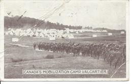 1914 - Canada's Mobilization Camp, Valcartier, Quebec, Plis Dans La Carte  (18.393) - Andere
