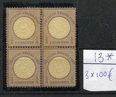 1/4 Groschen Bloc De 4 Mais Un Timbre Est Aminci.  Très Beau D'aspect. Cote 300,-euros Pour Les Bons - Unused Stamps