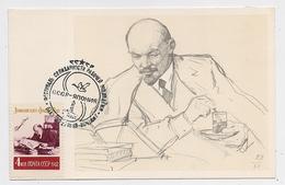 CARTE MAXIMUM CM Card USSR RUSSIA Lenin October Revolution Book Press Newspaper Japan Tea - 1923-1991 UdSSR