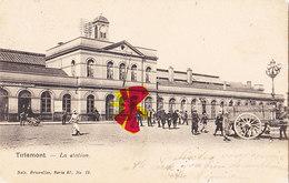 TIRLEMONT - La Station - Carte Très Animée Et Circulé En 1903 - Tienen