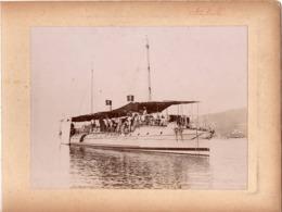 Navire Bateau De Guerre C.1898  KABILE ? Croiseur Cuirassé ? - Marine Nationale - Photographs