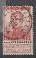COB N° 118 Oblitération ELLEZELLES 14 - 1912 Pellens