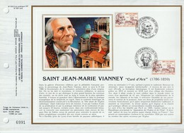 """C E F               N° 816 S     - SAINT JEAN - MARIE VIANNEY  - """" Curé D'Ars """"( 1786 - 1859)     1er Jour 3 /4/ 1986 - - Francia"""