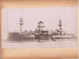 Navire Bateau De Guerre C.1898  LE REDOUTABLE Croiseur ? Cuirassé - Marine Nationale - Anciennes (Av. 1900)