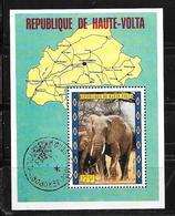 République De Haute Volta 1973  O (éléphant) - Guinée Equatoriale