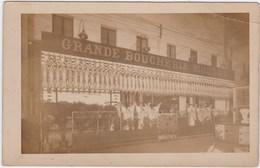 Carte Photo à Identifier Grande Boucherie Moderne (intérieur D'une Halle ?) - Postcards